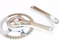 44T sprocket crankcset Bike Chain 170mm Protective Cover with Bracket Chainwheel pedivela Bike Accessories for Free Shipping