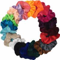 10 uds/lote gasa suave terciopelo satén pelo Scrunchie soporte floral elástico accesorios para corbatas de pelo leopardo