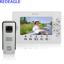 REDEAGLE 7 inch LCD Color Video door phone Intercom System Waterproof Night Vision Bell 700TVL HD Camera Home Security
