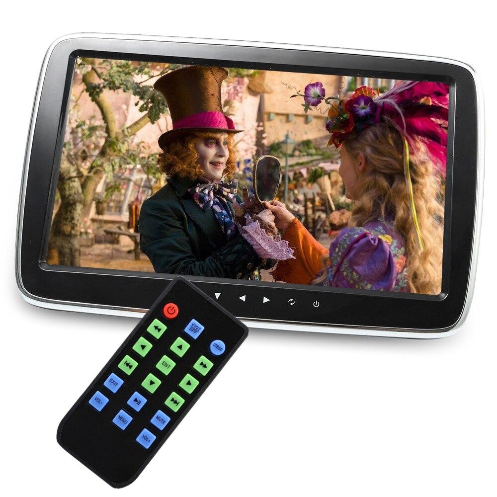 10 inch Car External Headrest Monitors Multi-media MP5 Player Full HD Support AV-in FM Hi-Fi Stereo TF USB Music Movie Player цена и фото