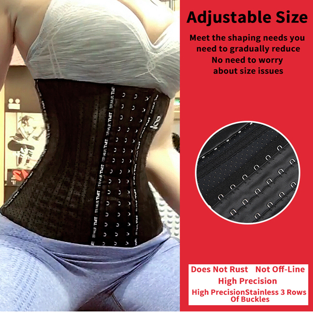 TMT Women Latex Waist Training Corset Posture Corrector Underbust for Losing Weight Sport Sweat Belt body slimming shaper 2