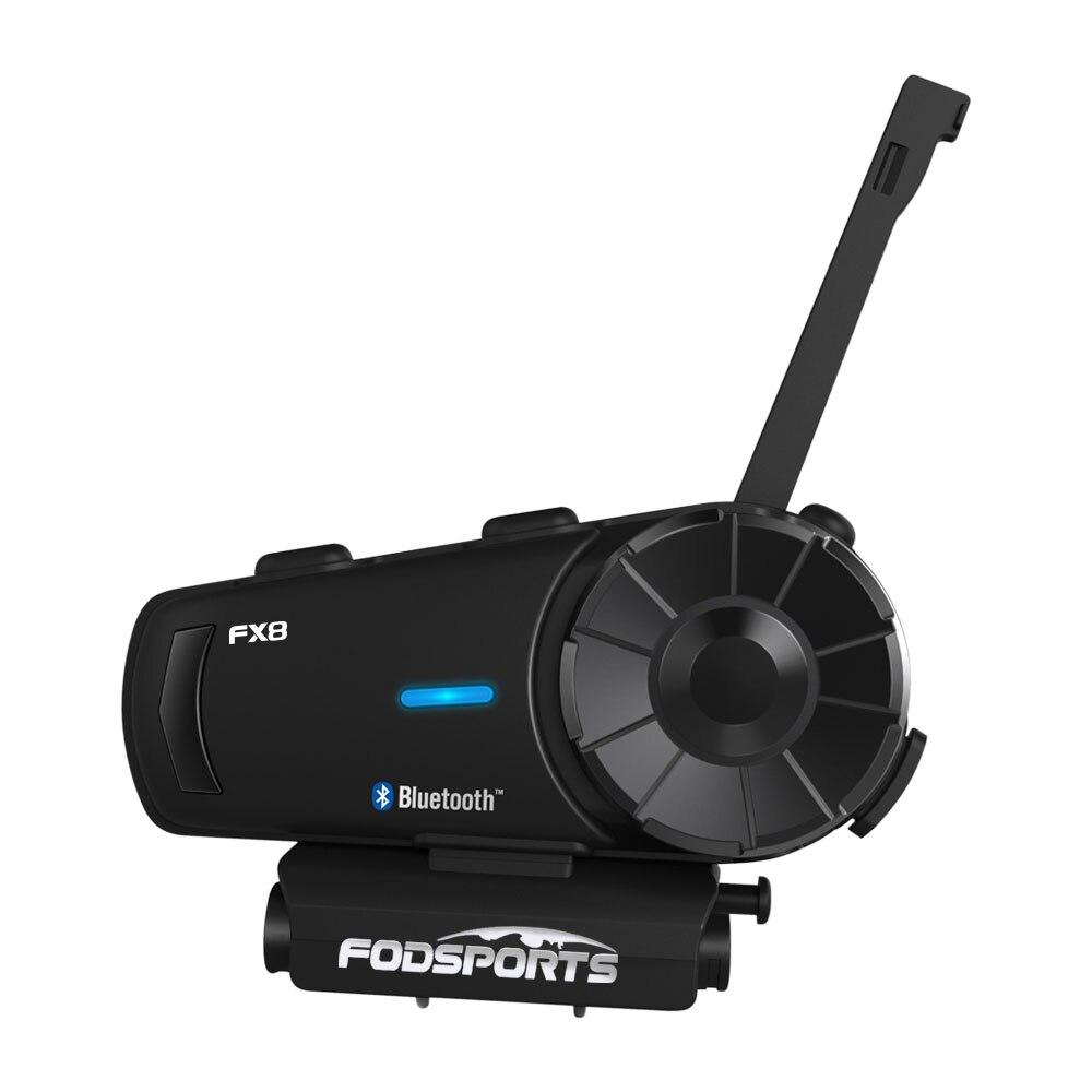 Fodsports fx8 capacete da motocicleta bluetooth intercomunicador capacete de moto fone de ouvido 1000m 8 rider bt interfone fm