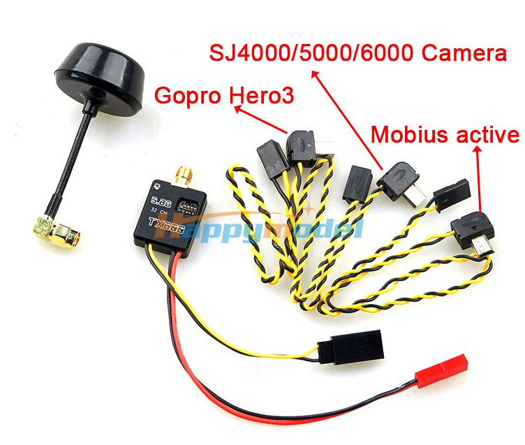 ФОТО 5.8GHz 600mW 32 Channel Mini AV Wireless Transmitter for Gopro hero3/hero4 ,Mobius active 808, SJ4000/5000/6000 SKU:11612