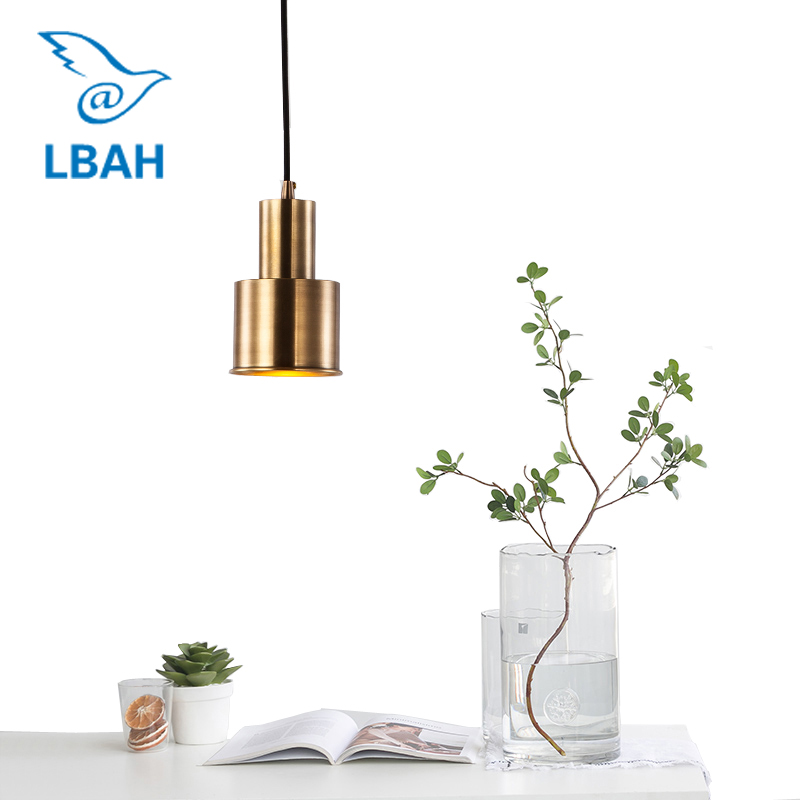 Nordic full copper lamp of bedroom the head of a bed the cafe restaurant bar counter droplight porch corridor lamp free shipping ems full copper porch corridor balcony lamp american country big droplight household decorates beautification