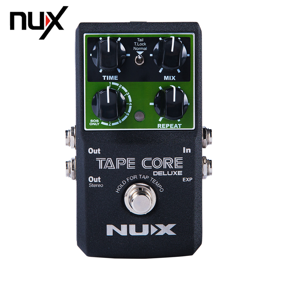 NUX Tape Core Deluxe Simulation Analog Circuit Echo Tone Guitar Effect Pedal 7 Models Delay True Bypass nux tape core deluxe new arrival guitar effect pedal tape delay effector true bypass usb update firmware effects free shipping