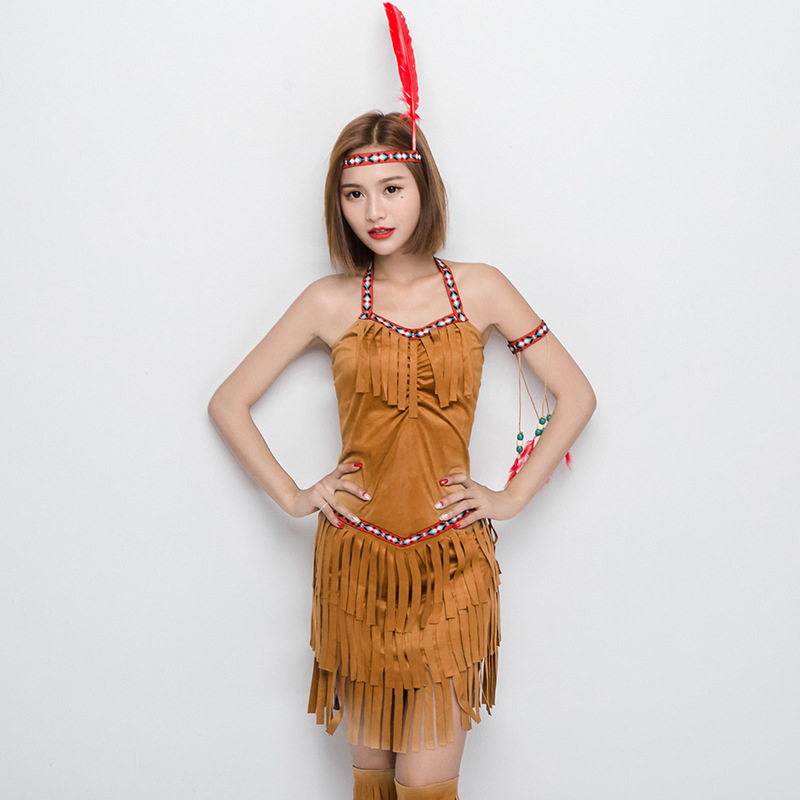 indian warrior women costumesexy halloween costumecampfire party cosplay costumes free spirit princess indian dresses in sexy costumes from novelty
