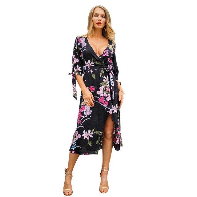 Womens Casual Wear Long Boho Dresses Women Party Dresses Vestidos Para Gorditas Para Fiestas beach spring summer 2019