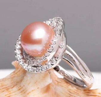 Naturel d'eau douce femmes mode perle pour le mariage CYNMOON réglable anneau