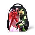 Forudesigns milagrosa ladybug impresión mochilas escolares para niños marinette cat negro para niñas de kindergarten mochilas casual