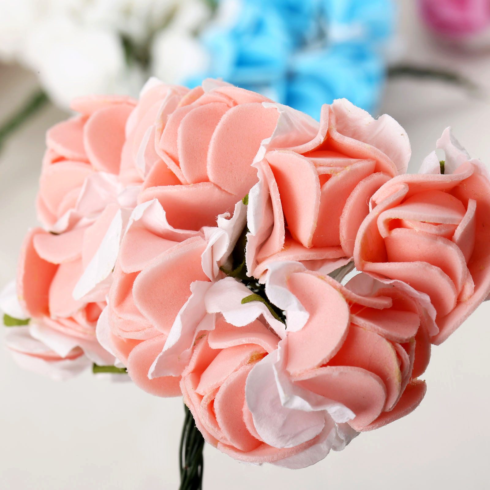 Artificial Strawberry Flower Bouquet Flowers For Home Diy Wreath
