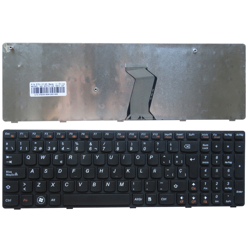 Spanish Laptop keyboard for <font><b>Lenovo</b></font> B570 B590 Z565 <font><b>Z560</b></font> Z570 Z575 V570A V570G B575 SP keyboard V570 image