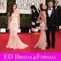 Меган Фокс Платье Светло-Розовый семидесятых Annual Golden Globe Awards Выпускного Вечера Вечера Знаменитости Платье Красного Ковра
