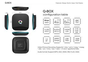 HIPERDEAL Q Box Android 4K TV BOX Amlogic Android 5.1 WiFi Bluetooth WIFI TV Box jan 16