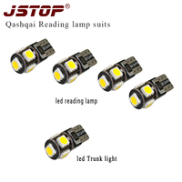 JSTOP 5 stks/set canbus Auto W5W 12VAC lampen super heldere w5w lampen Warm wit auto lamp t10 194 led 5050smd lichten