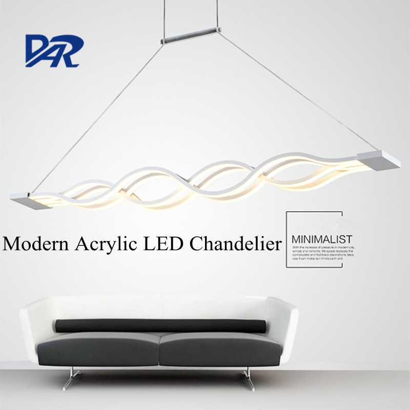 Fashion Wave Acrylic Led Chandeliers For Dining Room Lustre Hanglamp Lampadario Modern LED Chandelier Lighting Lamparas De Techo chandeliers for dining room