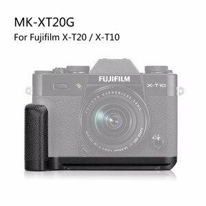 Image 4 - MEKE Meike XT20G Alüminyum Alaşım El Kavrama Hızlı Bırakma Plakası L Braketi Fujifilm X T20 X T30 X T10