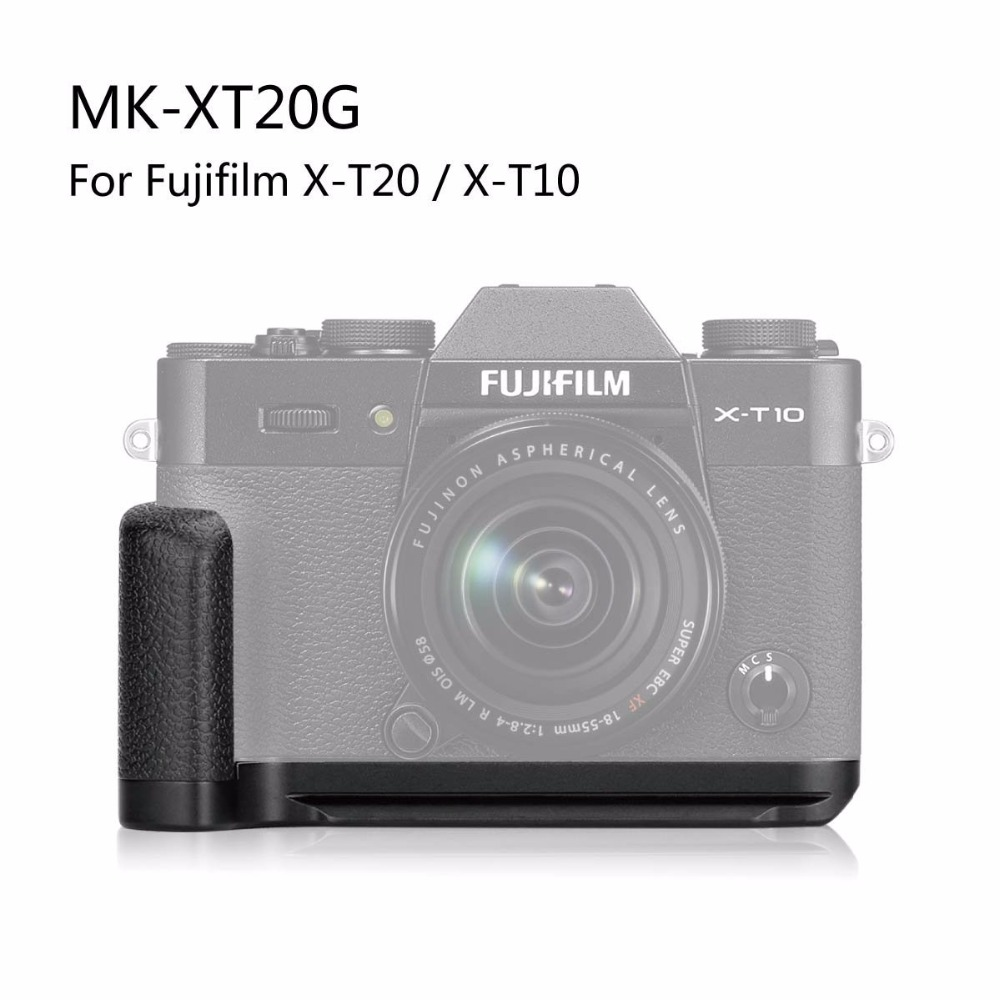Meke Meike Xt20g Aluminum Alloy Hand Grip Quick Release Plate L Fujifilm Xt20 Silver Body Only Black Hitam Bracket For X T20 T10 In Battery Grips From Consumer Electronics On
