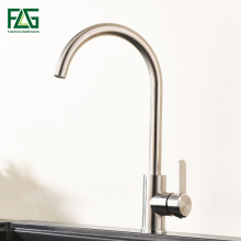 FLG kitchen Faucet 304 Stainless Steel nickel Brushed Kitchen Sink Tap 360 Swivel mixer tap