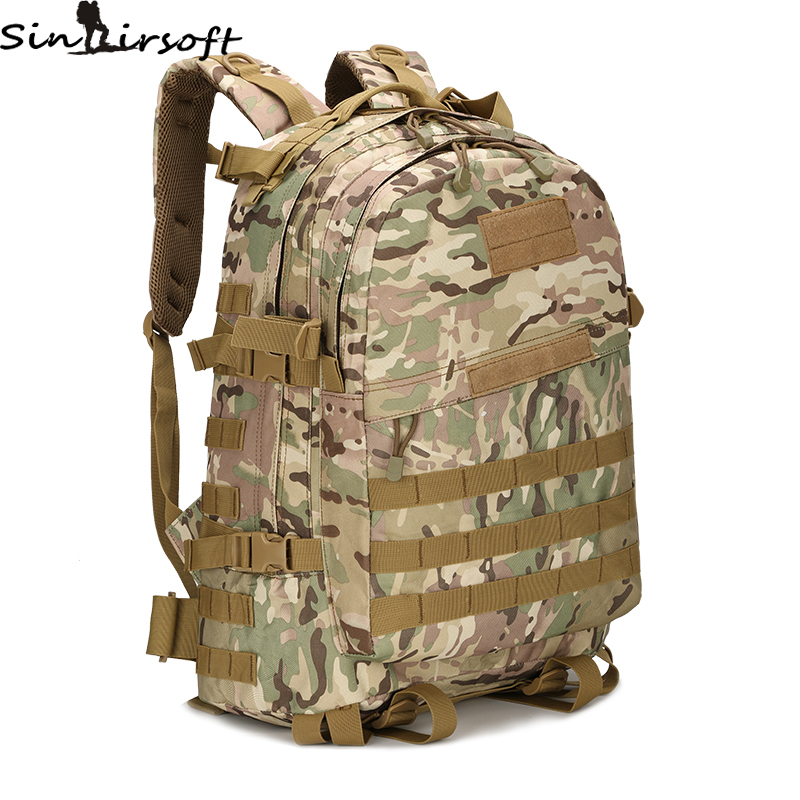 3D Outdoor Sport Tactical Climbing Mountaineering Backpack Camping Hiking Trekking Rucksack Travel Outdoor Bag 55L Bags