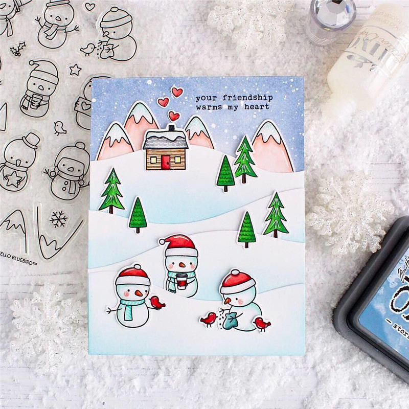 Group of Snowmen Metal Cutting Dies New 2019 Craft Scrapbooking Card Making Album Embossing Stencil Die Cut Decor