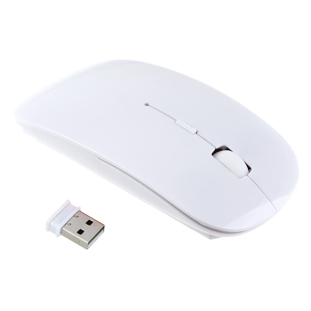 New Hot 2.4G USB Optical Wireless Computer Mouse 1600 DPI Ultra Slim Mouses For PC Laptop Desktop 8