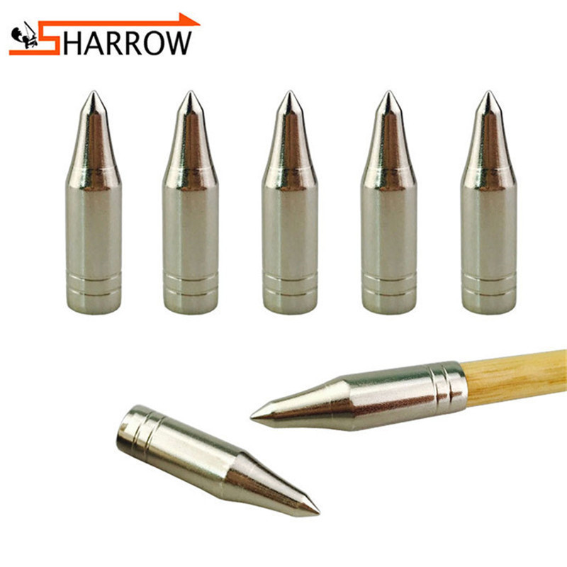 12//60pcs Archery Stainless Steel Arrowhead Target Screw In Field Points Tips