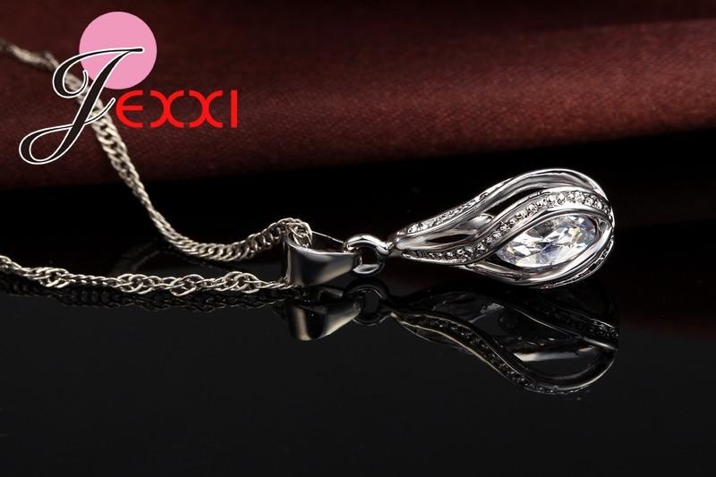 JEXXI 2018 Новый Water Drop CZ Ювелирные Наборы - Модные украшения - Фотография 4