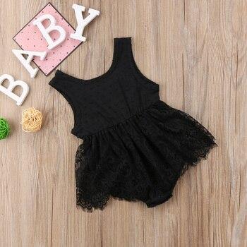 Fashion Baby Girls Infant Newborn Lace Tutu Bodysuit Summer Clothes 0-18M Baby Clothing Bodysuit Dress 1