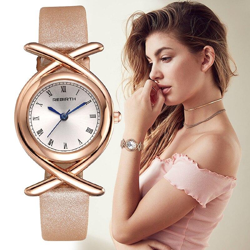 REBIRTH Roman Number Armbandsur Klockor Kvinnor Fashion Klocka 2017 - Damklockor