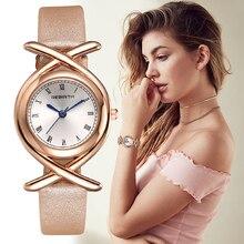 REBIRTH romėniško skaičiaus apyrankių laikrodžiai moterų mados laikrodžiai 2017 atsitiktinis odinis prabangus kvarcinis laikrodis ponios rankinės laikrodžio laikrodis