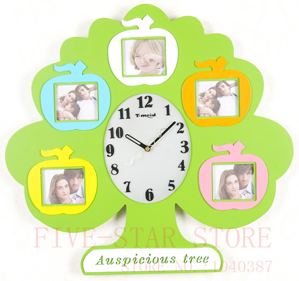 Wholesale Creative Fashion Children Wall Clock With Family