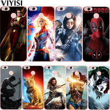 Luxury DC Captain Marvel Joker Shazam Deadpool Phone Case For Xiaomi Redmi Note 5A mi 8 6 A2 Lite A1 9 4X 6 4 4A 5X Note 4 Etui flower luxury for xiaomi redmi mi 8 6 cc9 a2 lite 5x 6x a1 6a 4x 4a 5 9 plus note 4 5a prime pro cover case coque etui funda