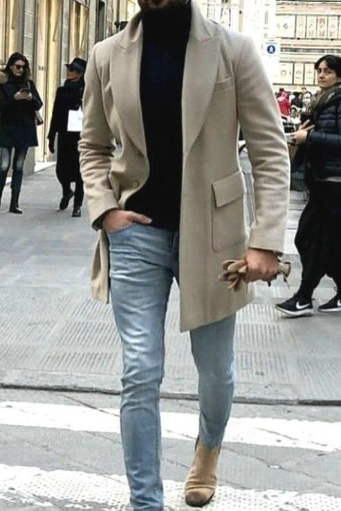 Vêtements vent As Blazer Personnalisé Tweed De Picture Hommes Épais Hiver Veste Color custom Dernières Coupe Chaud gris IU8Acwq