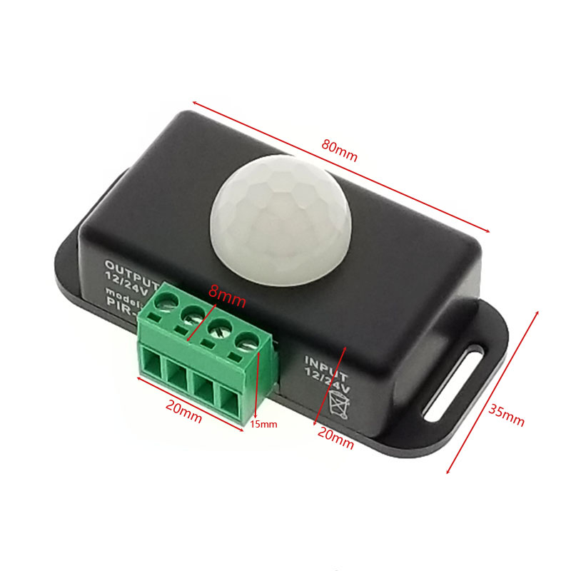 12V-24V 8A Led Strip Light Bulbs PIR Motion Sensor Switch Controller Intelligent