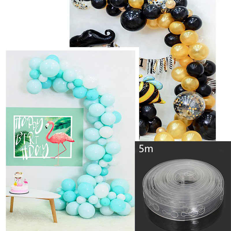 5 m/partij Ballons Accessoires Ballon Keten 160 Gaten Bruiloft Verjaardag Ballonnen Achtergrond Decor Accessoires Seal accessoires pomp