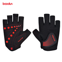 BOODUN Bike Gloves Half Finger for Men Women Summer Breathable Antislip Cycling Road Mountain Bicycle Gloves with Big Hook Loop