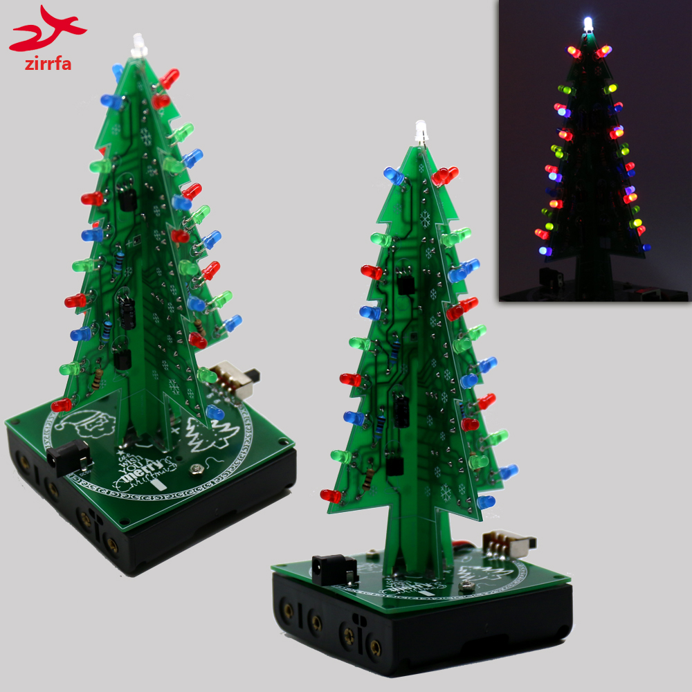 New 3D Christmas Trees three color led electronic diy kit for ...