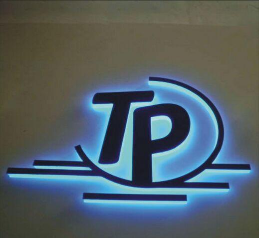 Custom LED backlit stainless steel letters sign