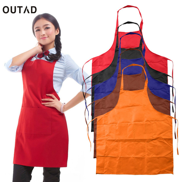 Kitchen Apron Adjustable Plain Apron with Front Pocket Cooking Pinafores Butcher Waiter Chefs Kitchen Cooking Craft