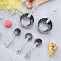 Нержавеющая сталь для выпечки мерная ложка с длинной ручкой металлическая Приправа ложка порошок кухонные мерные ложки весы набор