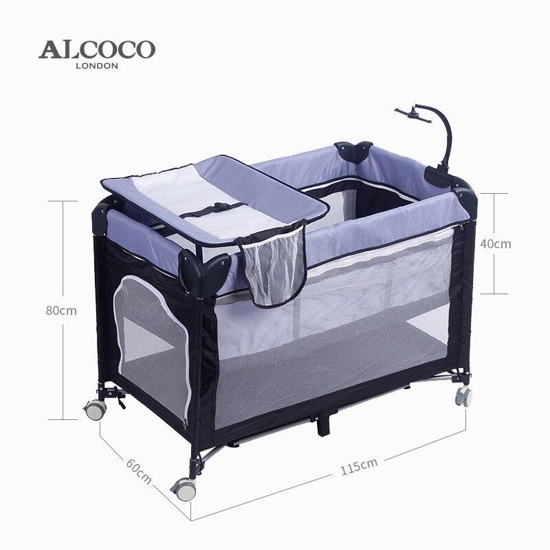 Lit pliant pour bébé lit de jeu de cavalier de jeu, table de couche de lit à usage unique de trampoline pour des enfants et des nourrissons jouent au cirb de lit