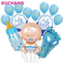 1 Set bebé ducha cumpleaños fiesta gran pezón botella de bebé pies de globo de helio Globos de 12 pulgadas es un niño /chica de látex decoración suministros