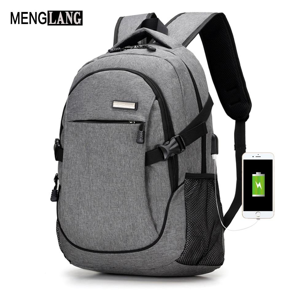 Best buy Men USB Laptop Backpack Bag Brand Notebook Computer Bag For Men  Travel Shoulders Bag Back Pack School Black Backpack Book Bag online cheap 25a5a0be91c8d