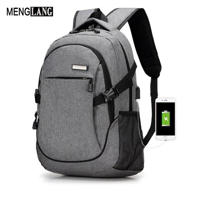 Men Usb Laptop Backpack Bag Brand Notebook Computer For Travel Shoulders Back Pack
