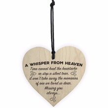 A Whisper From Heaven Wooden Hanging Heart Memorial Plaque Shabby Chic Sign Christmas Gift linkin park from a whisper to a scream a documentary film