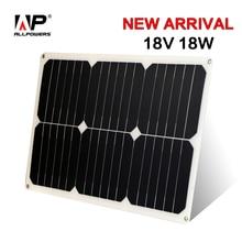 ALLPOWERS Panel Solar Portátil 18 V 18 W 12 V Solar Coche Mantenedor de batería Cargador para Automóvil Motocicleta Del Barco Del Coche Tractor.