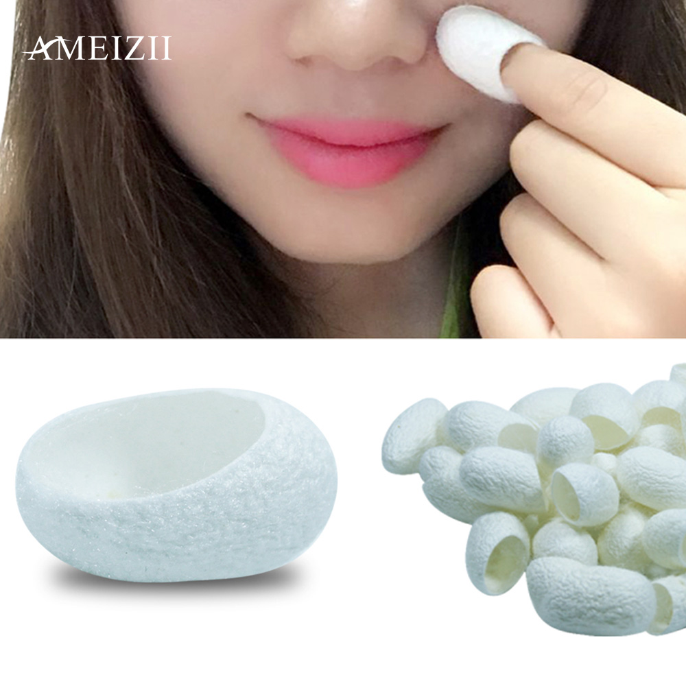 AMEIZII 30Pcs/lot Silkworm Balls Purifying Whitening Exfoliating Scrub Blackhead Remover Natural Silk Cocoons Facial Skin CareAMEIZII 30Pcs/lot Silkworm Balls Purifying Whitening Exfoliating Scrub Blackhead Remover Natural Silk Cocoons Facial Skin Care