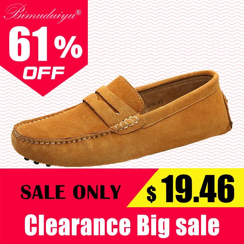 BIMUDUIYU բրենդային տղամարդկանց կոշիկներ Բնական կաշվե տղամարդկանց կոշիկներ Նորաձևություն ոճը փափուկ մոկասիններ տղամարդկանց կոշիկներ Տղամարդկանց բնակարաններ Gommino վարորդական կոշիկներ
