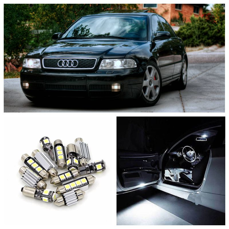 22pcs Error Free Canbus Car White LED Light Bulbs Interior Package Kit For 2000 2001 Audi S4 B6 Avant Map Dome Trunk Door Lamp free shipping 60 17x a4 s4 b5 1998 2001 white led lights interior package kit canbus