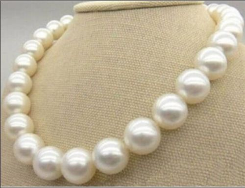 Huge 12-13mm Natural south sea round white pearl necklace good luster a -Top quality free shippingHuge 12-13mm Natural south sea round white pearl necklace good luster a -Top quality free shipping